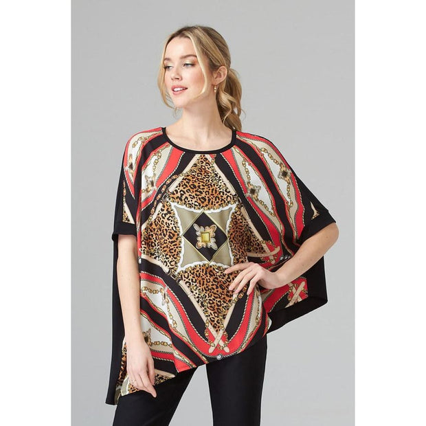 Joseph Ribkoff - 202440 Asymetrical Muliti Color Top - Blouses - 202440