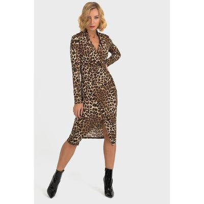 Joseph Ribkoff - Animal Print Dress - Dress - 193551