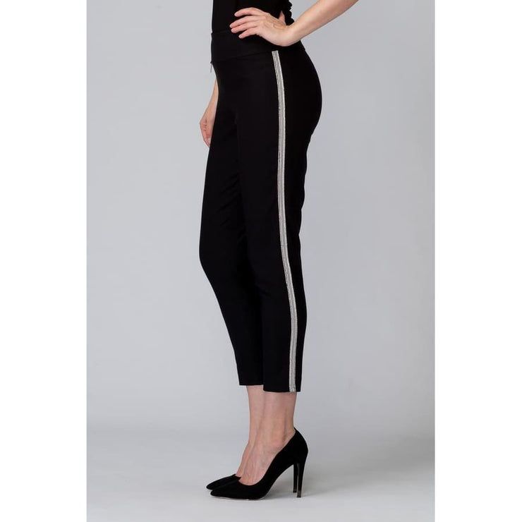 Joseph Ribkoff - Black Pant With Silver Detail - Pants - 201047