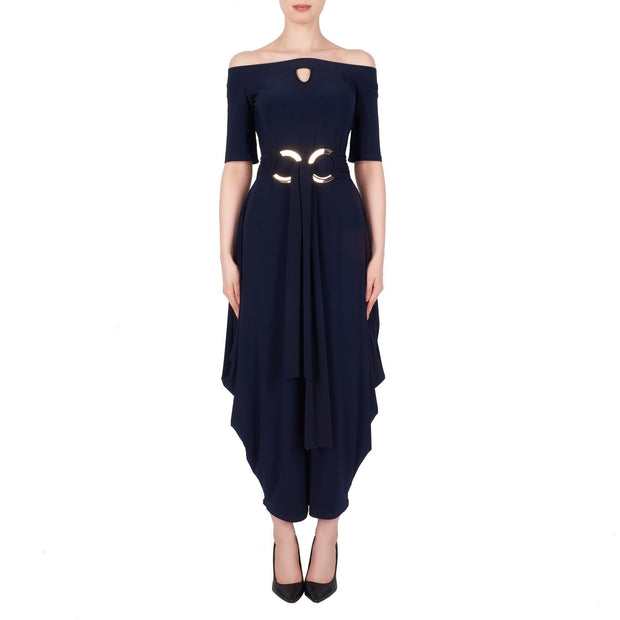 Joseph Ribkoff - Navy Rose Gold Jumpsuit - Dress - 191051
