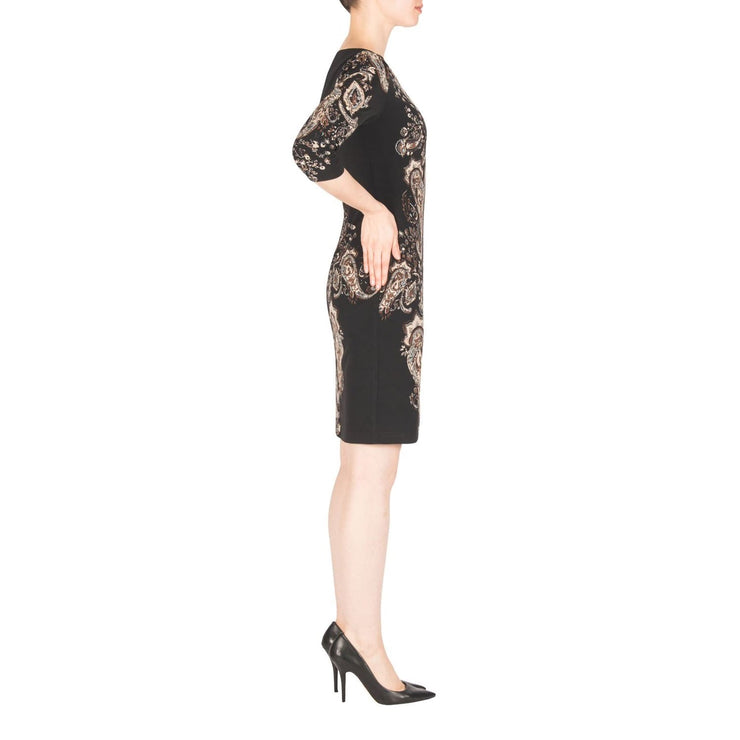 Joseph Ribkoff - Paisley Black Dress - Dress - 183640
