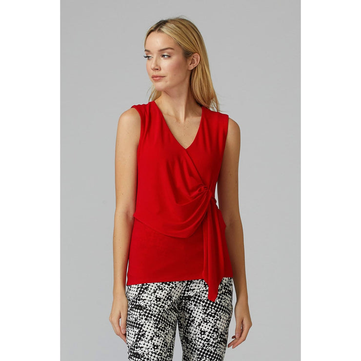 Joseph Ribkoff - Red Sleeveless Top - Top - 201236