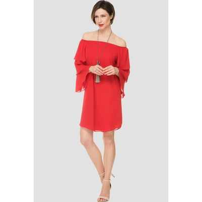 Joseph Ribkoff - Tunic/Dress Off Shoulder with Ruffle Sleeves - Dress - 191241