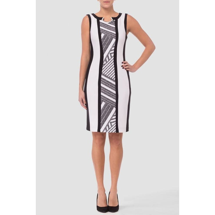 Joseph Ribkoff - White/Grey Dress - Dress - 182536