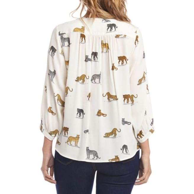 Karen Kane - Karen Kane On Safari Blouse - Shirt - 1L69304