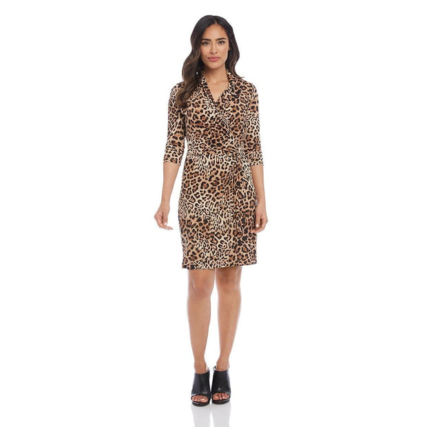 Karen Kane - 3/4 Sleeve Cascade Wrap Dress - Dress - 3L15583-1