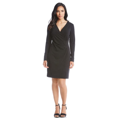 Karen Kane - Faux Wrap Dress - Dress - L51531