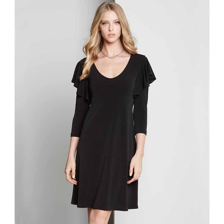 Karen Kane - RUFFLE 3/4 SLEEVE DRESS - Dress - KK-L43556
