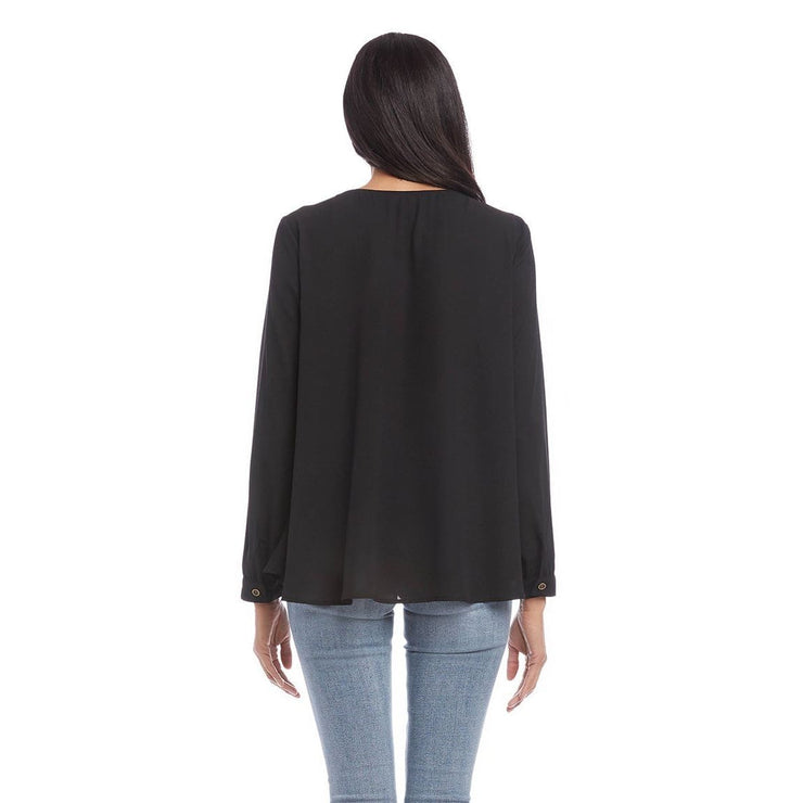 Karen Kane - Studded Long Sleeve Top - Top - 3L25458-1