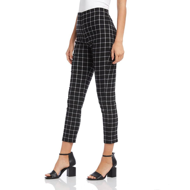 Karen Kane - Windowpane Check Piper Pants - Pants - 3L48563-1