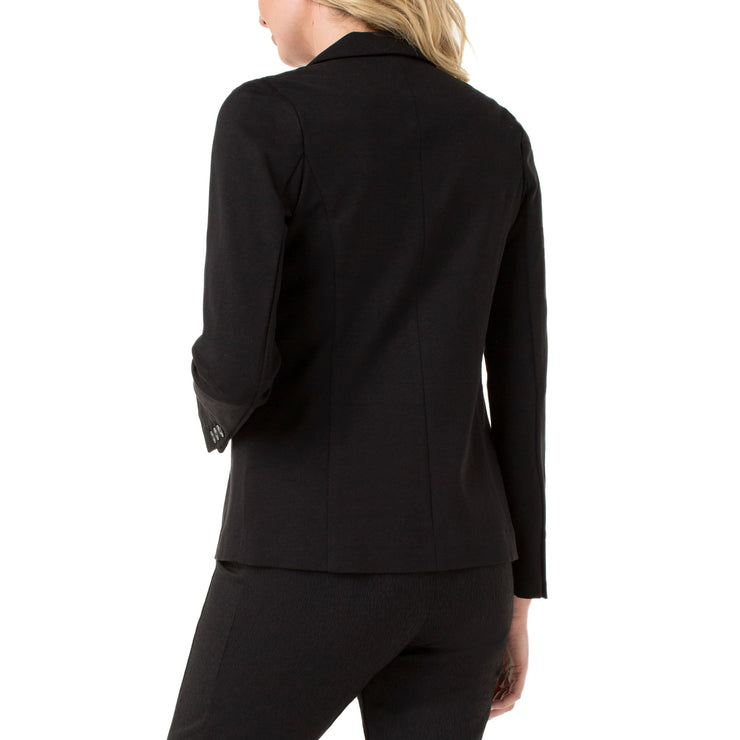 LIVERPOOL Jeans - Black Fitted Blazer - Jacket - LM1601M42 -1