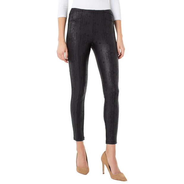 LIVERPOOL Jeans - Black Reese Seamed Leggings - Pants - LM2356Z64-1