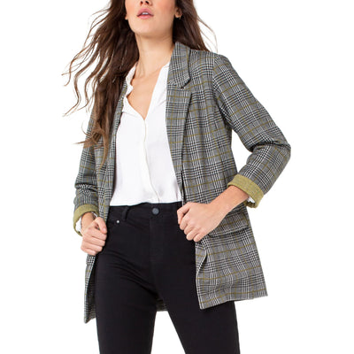 LIVERPOOL Jeans - Boyfriend Blazer with Princess Dart Pattern Knit - Jacket - LM1210GT-1