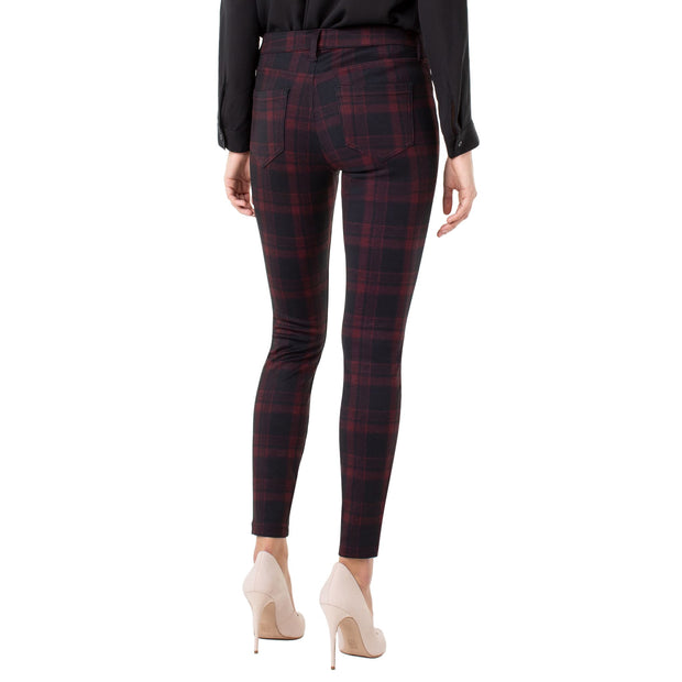 LIVERPOOL Jeans - Red and Black Patterned Madonna Legging - Pants - LM2015Z84-1