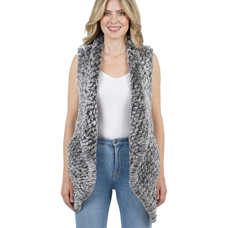 Love Token - Kiera Faux Fur Vest - Jacket - LT96-76-1