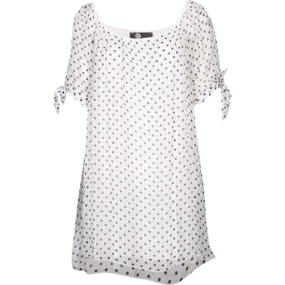 M Made In Italy - Black and white Polka Dots Tunic - Top