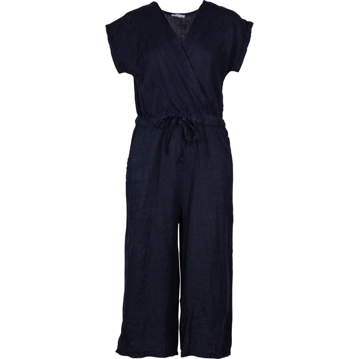 M Made In Italy - Linen Jumsuit Navy - Jumpsuits