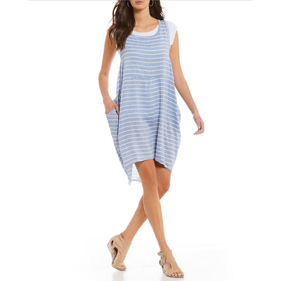M Made In Italy - M Made In Italy Linen Striped Dress - Women - 19/8678i
