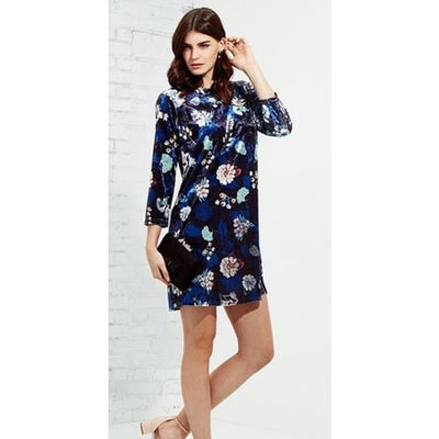 M Made In Italy - Multi Floral Velvet Dress - Women - 19/5664J