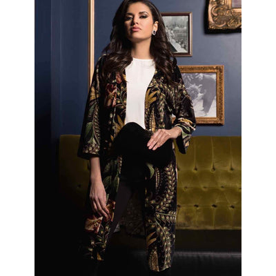 M Made In Italy - Tropical Print Velvet cardigan - Women