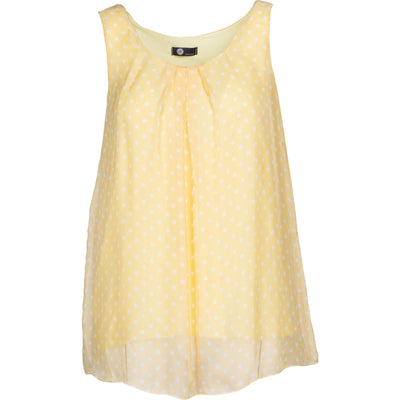 M Made In Italy - Yellow/White Polka dots Slvlss Top - Top
