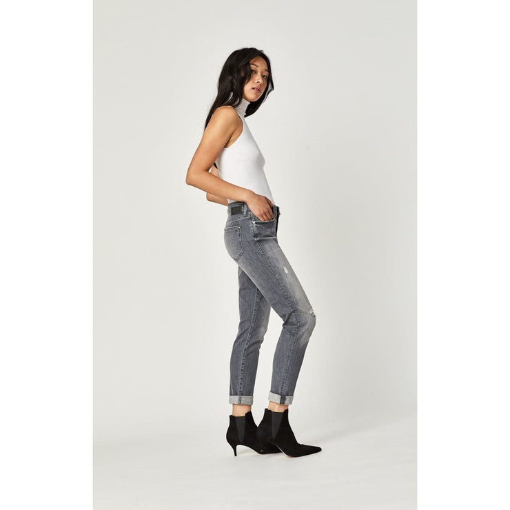 Mavi Jeans - Ada Boyfriend in Mid Grey Tribeca - Pants - 1020528245-1