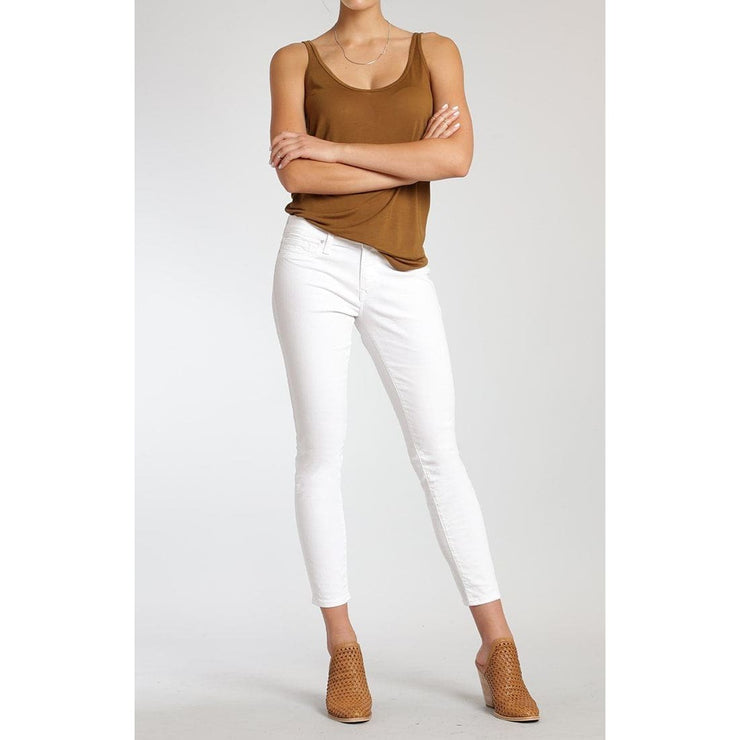 Mavi Jeans - Alexa Ankle Skinny in White Tribeca - Pants - 1077219552-1