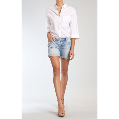 Mavi Jeans - Pixie Shorts in LT Ripped & Crashed Vintage - Pants - 1437022973-1