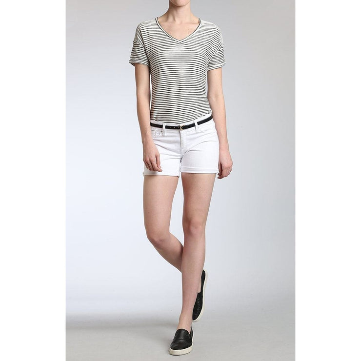 Mavi Jeans - Vanna Shorts in White Tribeca - Pants - 1413319552-1