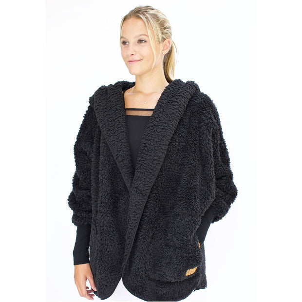Nordic Beach - Black Licorice Body Wrap - Cardigan