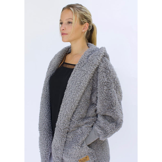 Nordic Beach - Grey Kitten Body Wrap - Cardigan