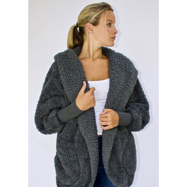 Nordic Beach - Koala Grey Body Wrap - Cardigan