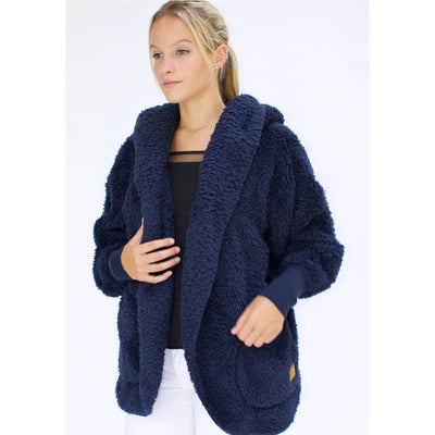 Nordic Beach - Midnight Navy Body Wrap - Cardigan