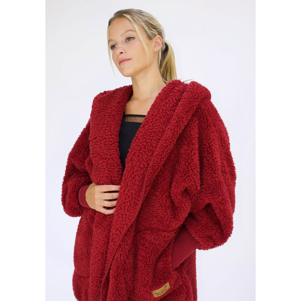 Nordic Beach - Red Velvet Body Wrap - Cardigan
