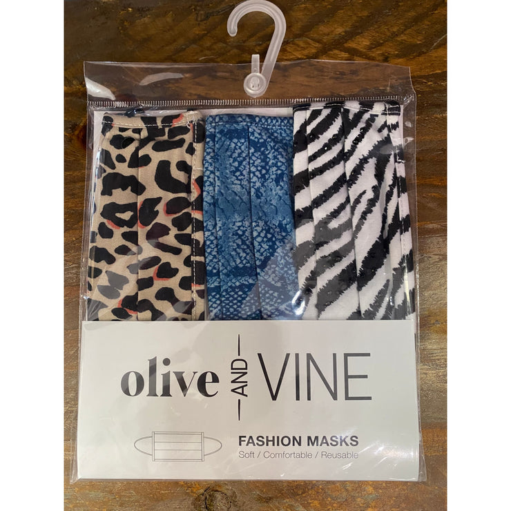 Olive & Vine - Animal Magnetism Mask 3 PK - Accessories