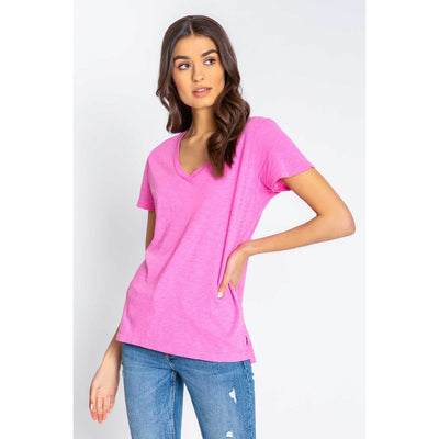 PJ Salvage - Back to Basic Short Sleeve Tee Hot Pink - T-Shirts