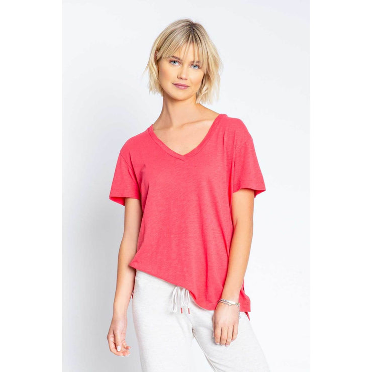 PJ Salvage - Back to Basic Short sleeve Tee Poppy - T-Shirts