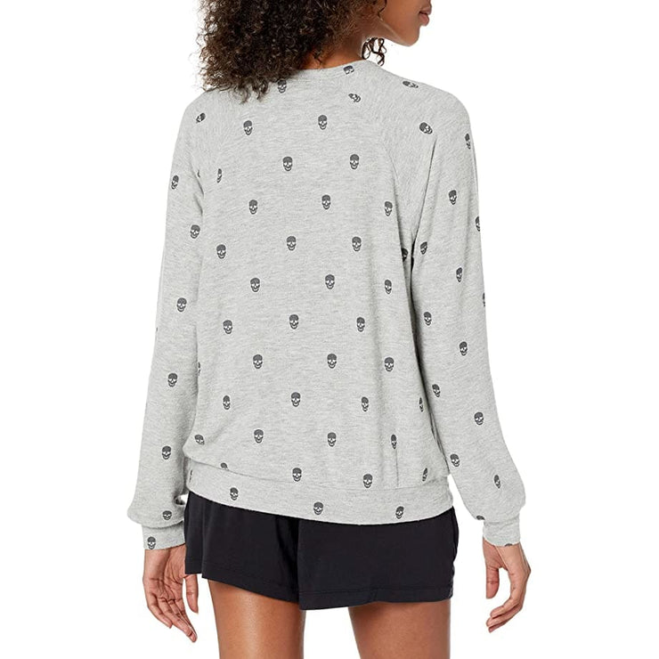 PJ Salvage - RUMMLS2 PJ Salvage Minimalist Peachy Skull Top - Sweatshirt