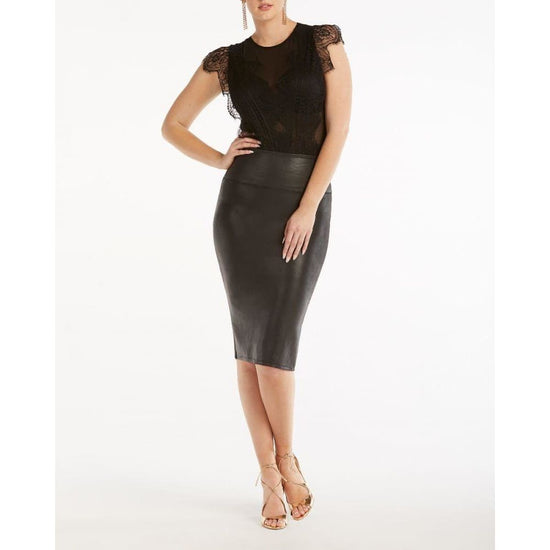 Spanx - Faux Leather Pencil Skirt - Women - spanxskirtblk-1