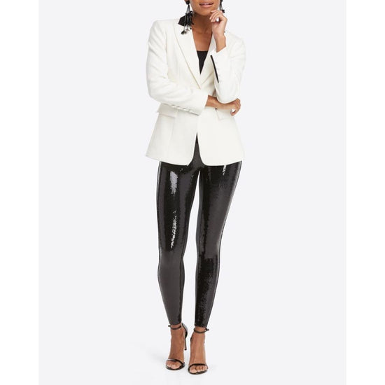 Spanx - Faux Leather Sequin Leggings - Women - 20189r