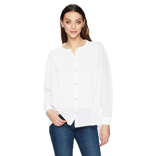 Splendid - Splendid Cotton Voile Button Down in White - Women - ST11935 PPR-1
