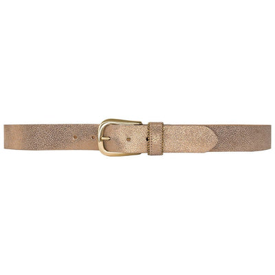 Streets Ahead - Fayre Gold Leather Belt - Accessories