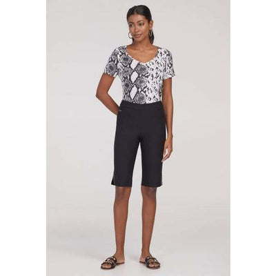 Tribal - 4473O FLATTEN IT® PULL-ON BERMUDA WITH LUREX TOPSTITCH - Shorts