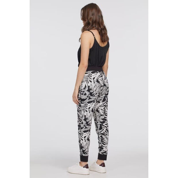 Tribal - 6912O Reversible Print Jogger-Black - Pants - 6912O-1