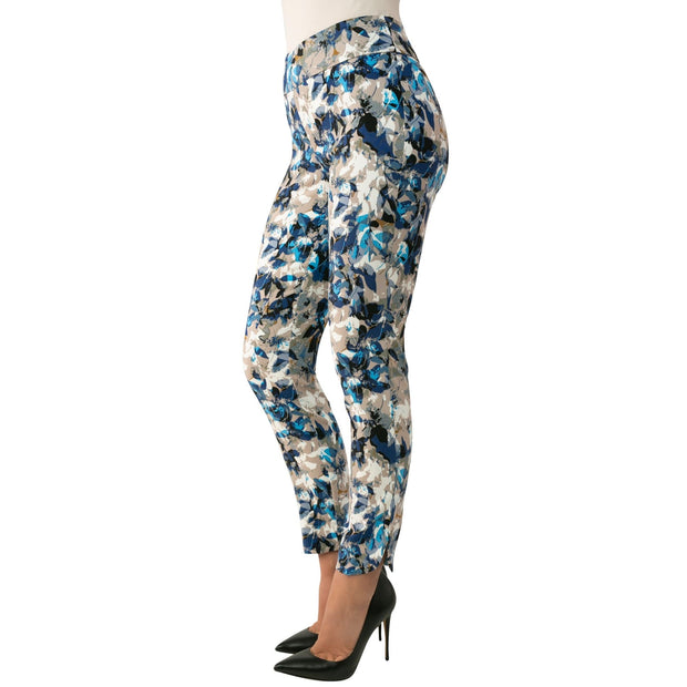 Up! Pants - 66784U Up! Floral Blue Pants - Pants