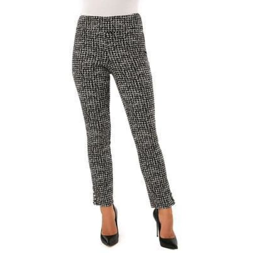 Up! Pants - Black & White with Pearl detail Pants - Pants - 66576UP-1
