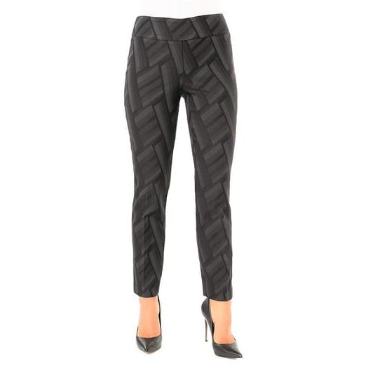 Up! Pants - Chevron Slim Ankle Pant - Pants