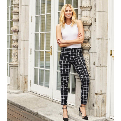Up! Pants - UP! Frame Black & White Print - Women - 66239UP