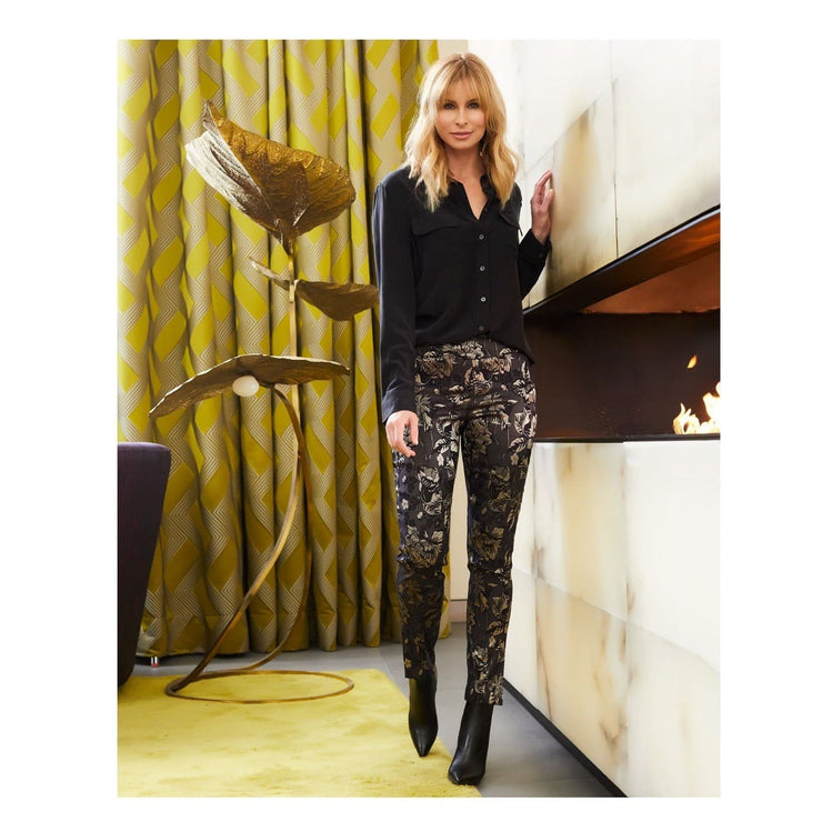 Up! Pants - Gold and Black Tinsel UP Pants - Pants - 66619-1