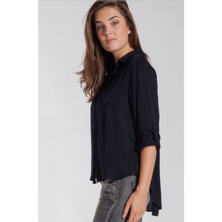 Velvet Heart - Elisa Black Button Down Shirt - Women - ETW-20619